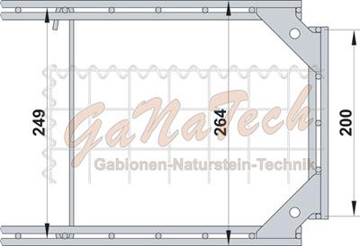 Gabionen Winkelclip Beispiel Maße