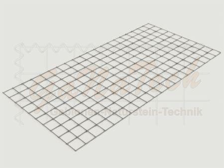 Gabionenmatte 200 x 100cm, Draht Ø 4,5mm, Maschenweite 10/10cm
