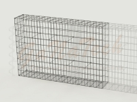 Gabionenzaun 150 x 25 x 100cm, Draht Ø 4,5mm, Erweiterung