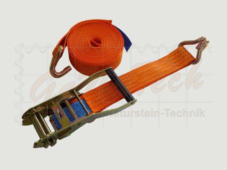Zurrgurt 50mm, 6m, LC2000daN, STF 320daN, Spitzhaken, orange