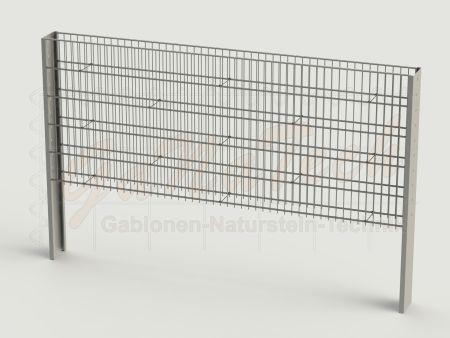 Steinzaun Solid Grundelement 255 x 20 x 103cm, Maschenweite 5/20cm