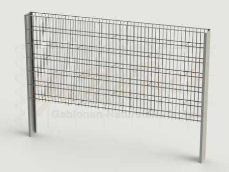 Steinzaun Solid Grundelement 255 x 20 x 123cm, Maschenweite 5/20cm