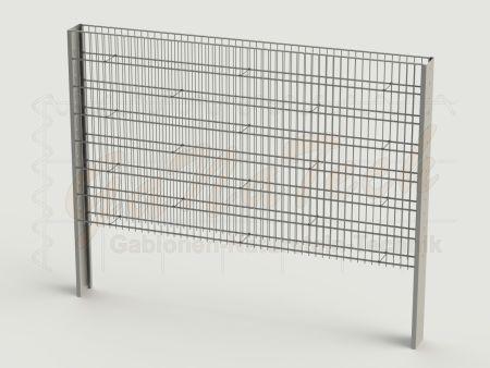 Steinzaun Solid Grundelement 255 x 20 x 143cm, Maschenweite 5/20cm
