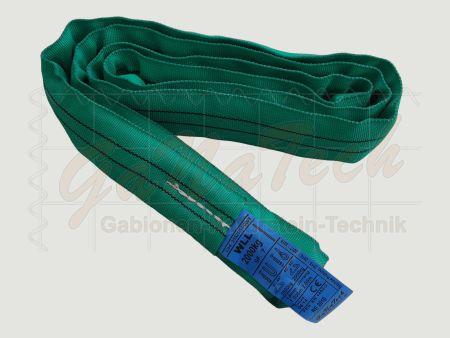 Rundschlinge WLL 2000daN (2to.), 100cm Länge, grün, Einfachmantel