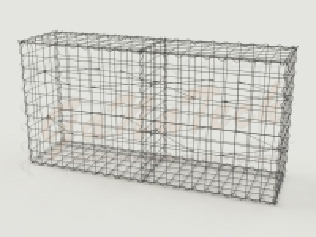 Gabione Basiskorb 200cm lang, 50cm tief, 100cm hoch, mit Trennwand