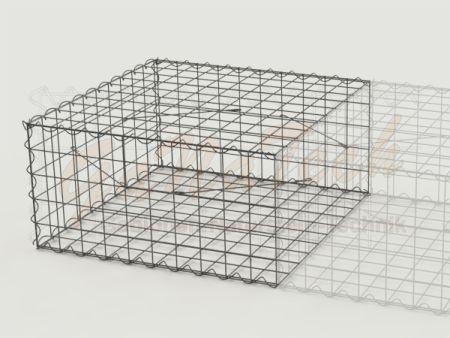 Gabione Erweiterungskorb 100cm lang, 100cm tief, 50cm hoch