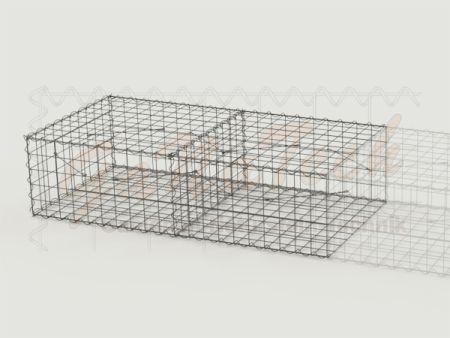 Gabione Erweiterungskorb 200cm lang, 100cm tief, 50cm hoch, mit Trennwand