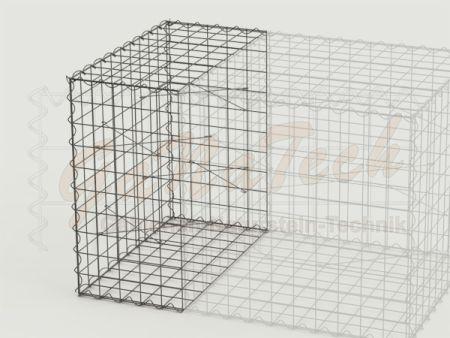 Gabione Erweiterungskorb 50cm lang, 100cm tief, 100cm hoch