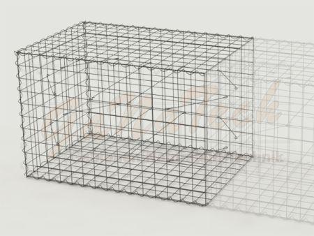 Gabione Erweiterungskorb 150cm lang, 100cm tief, 100cm hoch
