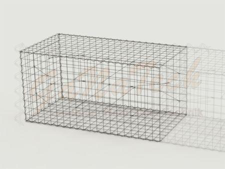 Gabionen Erweiterung 200 x 100 x 100cm, Maschenweite 10/10cm, ohne Trennwand