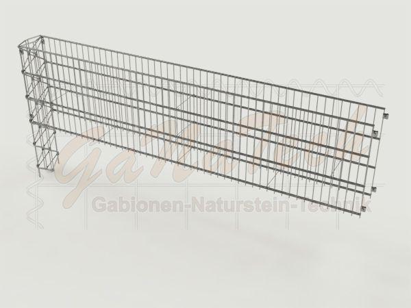 steinzaun mesh erweiterungselement 253x23x63cm. Black Bedroom Furniture Sets. Home Design Ideas