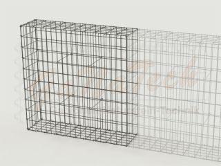 Gabionenzaun 100 x 25 x 100cm, Draht Ø 4,5mm, Erweiterung