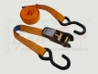 Zurrgurt 25mm, 4m, LC400daN, STF 125daN, S-Haken, orange