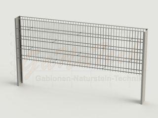 Steinzaun Solid Grundelement 255 x 20 x 83cm, Maschenweite 5/20cm