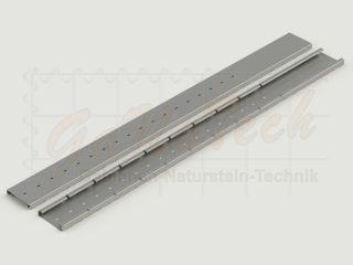 1 Paar Profilbleche Solid 200 für 183cm Steinzaun-Höhe, zum Einbetonieren