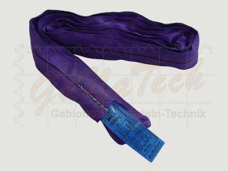 Rundschlinge WLL 1000daN (1to.), 400cm Länge, violett, Doppelmantel