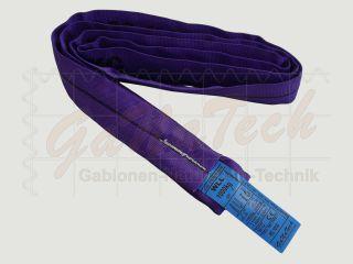 Rundschlinge WLL 1000daN (1to.), 200cm Länge, violett, Einfachmantel