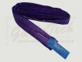 Rundschlinge WLL 1000daN (1to.), 300cm Länge, violett, Einfachmantel