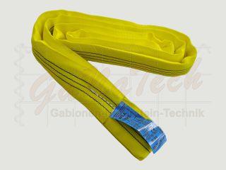 Rundschlinge WLL 3000daN (3to.), 100cm Länge, gelb, Einfachmantel