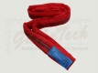Rundschlinge WLL 5000daN (5to.), 100cm Länge, rot, Einfachmantel