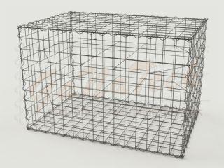 Gabione 150 x 100 x 100cm, Draht Ø 4,5mm, Maschenweite 10/10cm