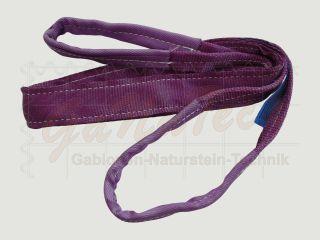 Hebegurt WLL 1000daN (1to.), 400cm Länge, violett, 2-lagig