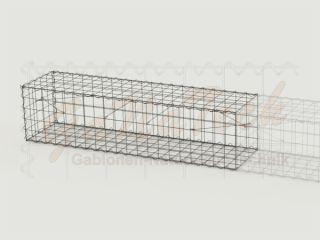 Gabione Erweiterungskorb 200cm lang, 50cm tief, 50cm hoch, ohne Trennwand