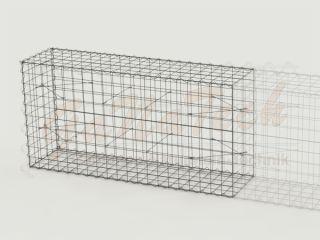 Gabione Erweiterungskorb 200cm lang, 50cm tief, 100cm hoch, ohne Trennwand