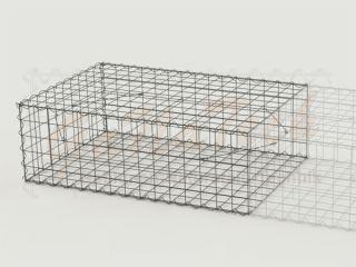 Gabione Erweiterungskorb 150cm lang, 100cm tief, 50cm hoch
