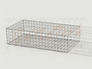 Gabione Erweiterungskorb 200cm lang, 100cm tief, 50cm hoch, ohne Trennwand