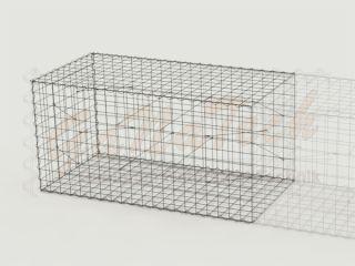 Gabione Erweiterungskorb 200cm lang, 100cm tief, 100cm hoch, ohne Trennwand